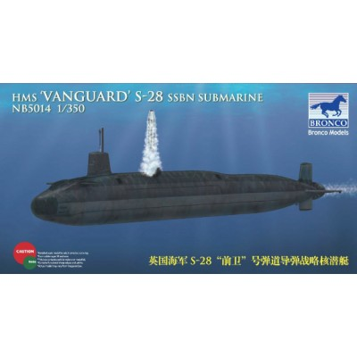 SUBMARINO H.M.S. VANGUARD S-28 1/350