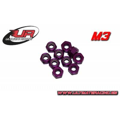 TUERCA AUTOBLOCANTE M3 (Purpura)