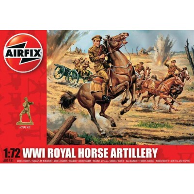 ARTILLERIA A CABALLO BRITANICA 1ª G.M. (33 piezas) 1/72 - Airfix A01731