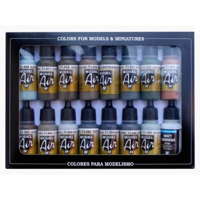 Pintura Para Aerógrafo Camuflaje Marrón av Vallejo Model Air 17ml Botella