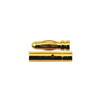 CONECTOR ORO 3 mm (Macho / Hembra)