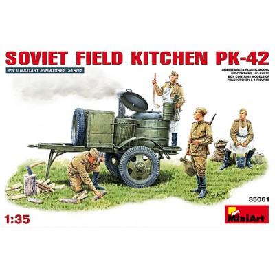 COCINA DE CAMPAÑA SOVIETICA KP-42 Y COCINEROS