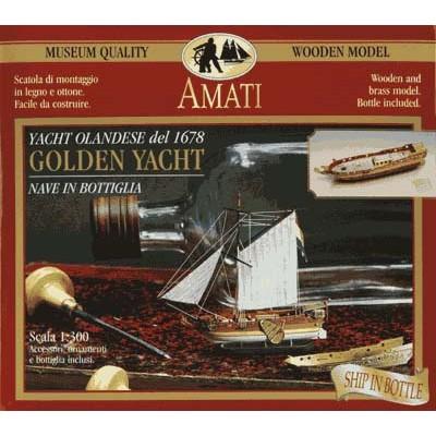 AMATI GOLDEN BARCO EN BOTELLA: YATE HOLANDES 1.678 AMATI 1350