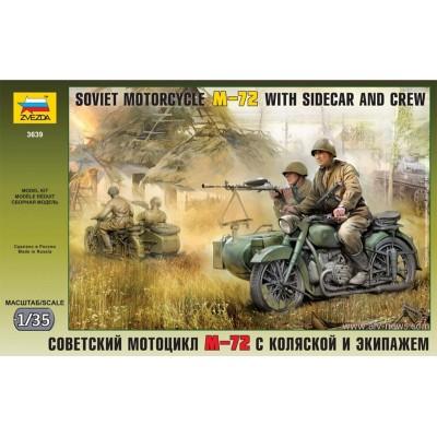 MOTOCICLETA Y SIDECAR M-72 Y DOTACION