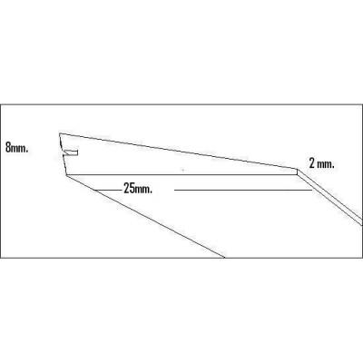 BORDE SALIDA BALSA (25 x 8 x 2 x 1.000 mm)