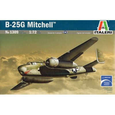 NORTH AMERICAN B-25 G MITCHELL - ESCALA 1/72 - ITALERI 1309