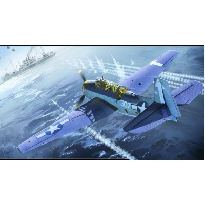 GRUMMAN TBM-3 AVENGER U.S.S. BUNKER HILL - 1/48 - Academy 12285