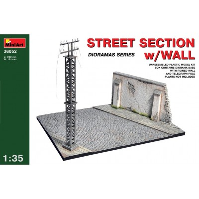 DIORAMA: SECCION DE CALLE CON PARED - escala 1/35 - miniart 36052