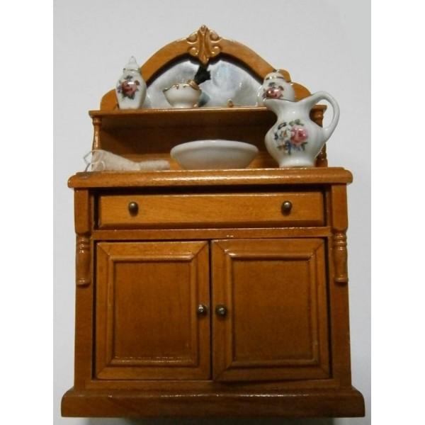 Mueble de ba o en madera con accesorios - Mueble de bano de madera ...