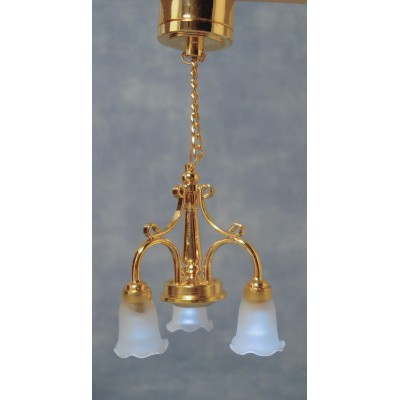 LAMPARA DE TECHO 3 TULIPAS (Led) PILA DE BOTON (INCLUDIDA)
