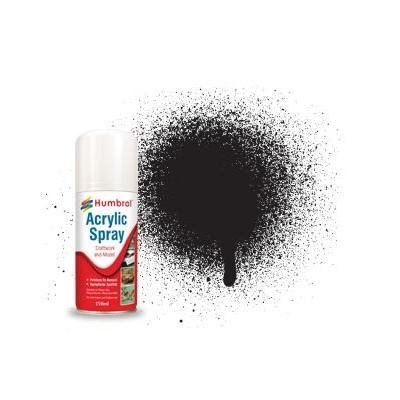 SPRAY ACRILICO NEGRO MATE (150 ml) - Humbrol AD6033