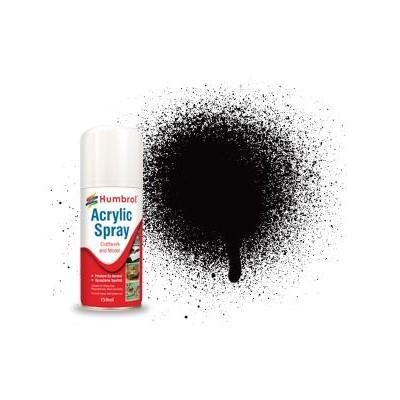 SPRAY ACRILICO NEGRO SATINADO (150 ml) - Humbrol AD6085
