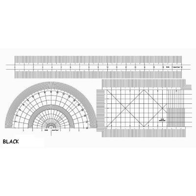 SET REGLAS FLEXIBLES 0,2 mm PLATA