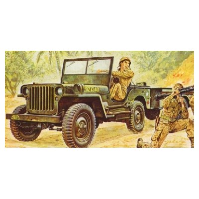 JEEP WILLYS Y REMOLQUE
