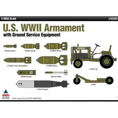 SET DE ARMAMENTO USAF 2ª GUERRA MUNDIAL 1/48