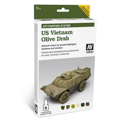AFV PAINTING SYSTEM: U.S. OLIVE DRAB EN VIETNAM (6 botes - 8ml)