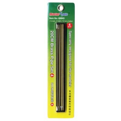 SET Nº 4 TUBO HUECO LATON 200 mm (1,1 x 1/ 1,6 x 1/ 2,1 x 1/ 2,6 x 1 mm) - Trumpeter Master Tools 09945