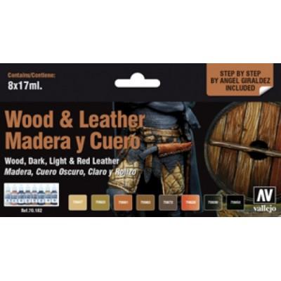 SET COLORES MADERA Y CUERO (8 botes)