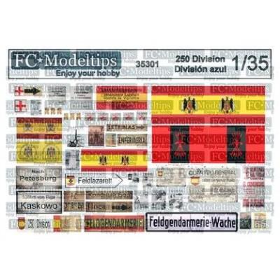 CARTELES DIVISION AZUL - Div. 250 1/35 - FC Modeltips 35301
