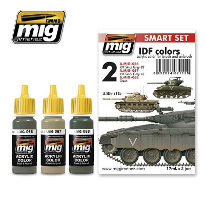 SET COLORES: IDF COLORS - AMMO MIG 7115