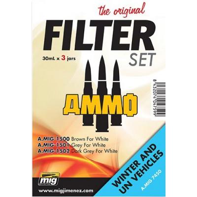 SET FILTROS: VEHICULOS BLANCOS Y INVIERNO - Ammo Mig 7450