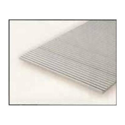 HOJA PLASTICO GRABADA 0,5 mm 0 VAGONES (300 x 150 mm)