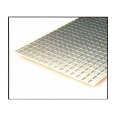 HOJA PLASTICO CUADRADO ACERA (3,2 x 3,2 mm) 1,0 mm (300 x 150 mm)