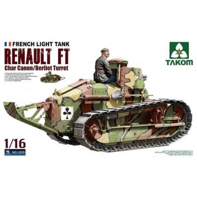 RENAULT FT-17 (Torre Berliet) 1/16 - Takom 1003
