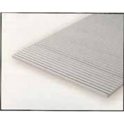HOJA PLASTICO GRABADA-V 1 mm Sep. 3,2 mm (300 x 150 mm)