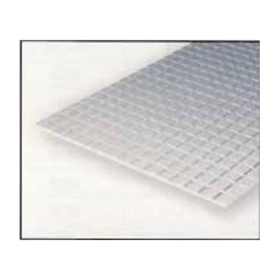 HOJA PLASTICO CUADRADO AZULEJO (1,6 x 1,6 mm) 1,0 mm (300 x 150 mm)