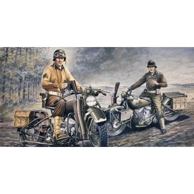 MOTOCICLETAS U.S. ARMY (2 UNIDADES) ESCALA 1/35 - ITALERI 322