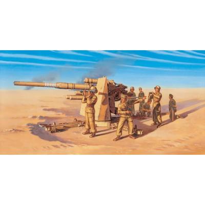CAÑON FLAK-37 (88 mm) MONTAJE RAPIDO - Italeri 7512 - ESCALA 1/72 - ITALERI 7512
