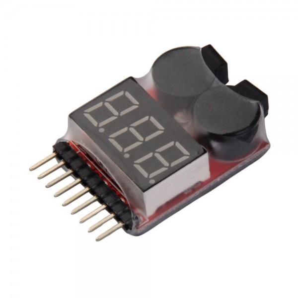 Comprobador baterias lipo 1s 8s con sonido de alarma for Sonido de alarma