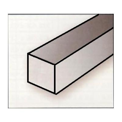 VARILLA CUADRADA PLASTICO (2,5 x 2,5 x 360 mm) 8 unidades