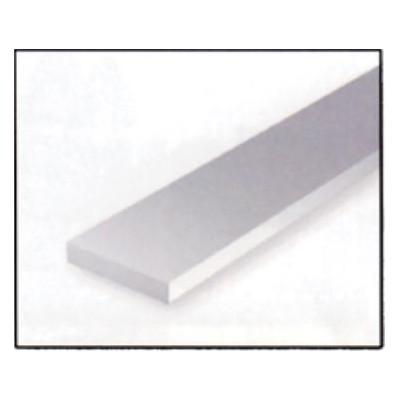 VARILLA RECTANGULAR PLASTICO (2,5 x 6,3 x 360 mm) 6 unidades