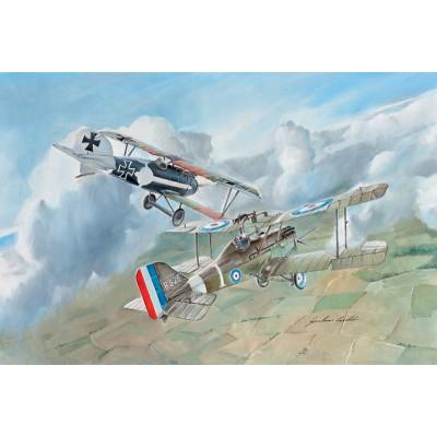 RAF S.E. 5a Y ALBATROS D. III