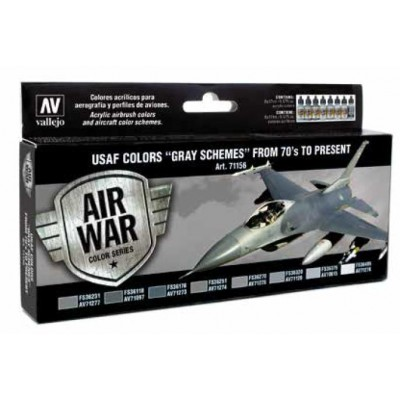 AIR WAR: USAF COLORS GRAY SCHEMES From 70´s to present (8 colores)