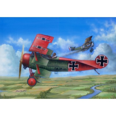 FOKKER Dr.I (Richthofen / Kempf) 1/24 - Merit-International 62403
