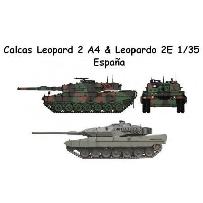 CALCAS LEOPARD 2A4 Y LEOPARDO 2E ESPAÑA 1/35