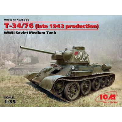 CARRO DE COMBATE T-34/76 Mod. 1943 - ICM 35366 - escala 1/35