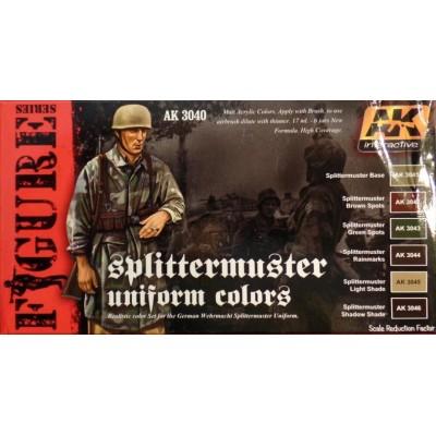 FIGURE series: SPLINTTERMUSTER UNIFORM COLORS - AK 3040