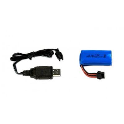 CARGADOR USB & BATERIA 6,5V/500 MAH (LEON/RS01)
