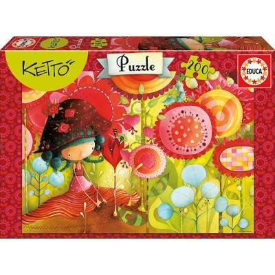 PUZZLE 200 pzas. JUNGLE OF FLOWERS, Ketto