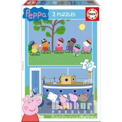 PUZZLE 2 x 20 pzas. PEPPA PIG