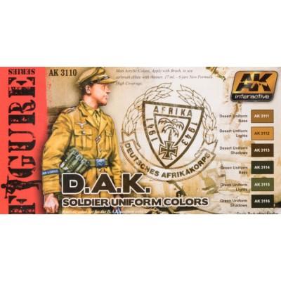 FIGURE series: D.A.K. SOLDIER UNIFORM COLORS - AK 3110