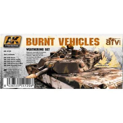 AFV series: BURNT VEHICLES (5 botes)