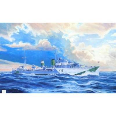 DESTRUCTOR BRITANICO HMS HARVESTER WWII - ESCALA 1/500 - MISTERCRAFT 002985 - S98
