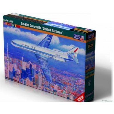 Sud-Est Aviation Se-210 CARAVELLE - UNITED - MisterCraft 040277 - ESCALA 1/144