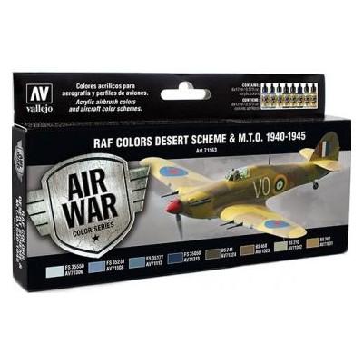 AIR WAR: R.A.F. COLORS DESERT SCHEME & M.T.O. 1940 - 45 (8 colores)