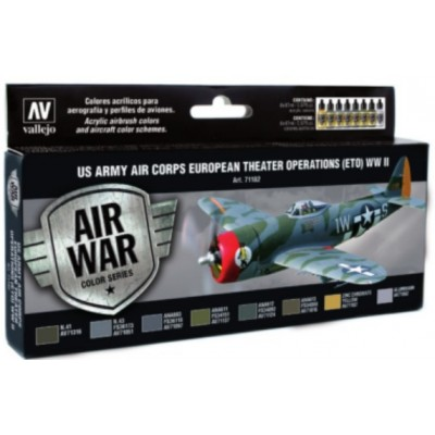 AIR WAR: US ARMY AIR CORPS EUROPAN THEATER WWII SET VALLEJO 71182